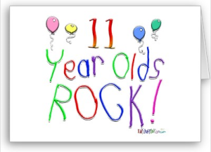11 Year Olds Rock ! Card from Zazzle.com_1246169169884