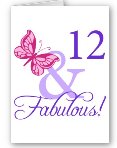 12 And Fabulous Birthday Card from Zazzle.com_1246255788426