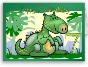 Happy Birthday Dinosaur Card 7th From Zazzle 1245827578448