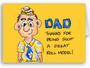 Roll Model Dad Father's Day Card from Zazzle.com_1245133178259