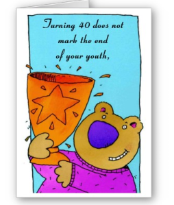 A Humorous 40th Birthday Card From Zazzle 1249022596048