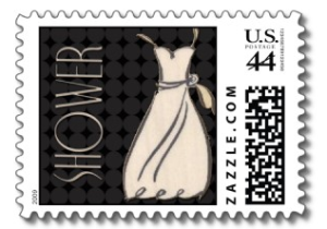 Black and white wedding shower from Zazzle.com_1247467710001