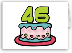 46 Year Old Birthday Cake Card from Zazzle.com_1249625463551