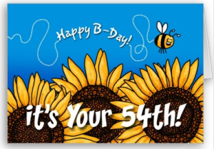 bee trail sunflower - 54 years old card from Zazzle.com_1250401744523