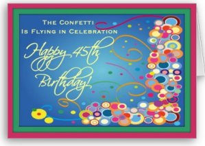 Divas 45th Birthday Confetti Card From Zazzle 1249453631031