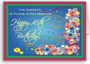 Divas 45th Birthday Confetti Card From Zazzle 1249453631031