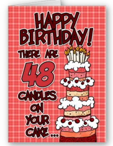 Happy Birthday - 48 Years Old Card from Zazzle.com_1249806372406