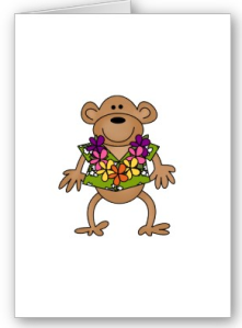 Tropical Luau Monkey Card from Zazzle.com_1249200024050
